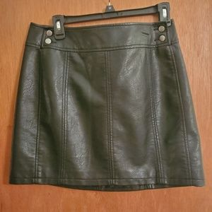 Free People Leather Skirt Size 10